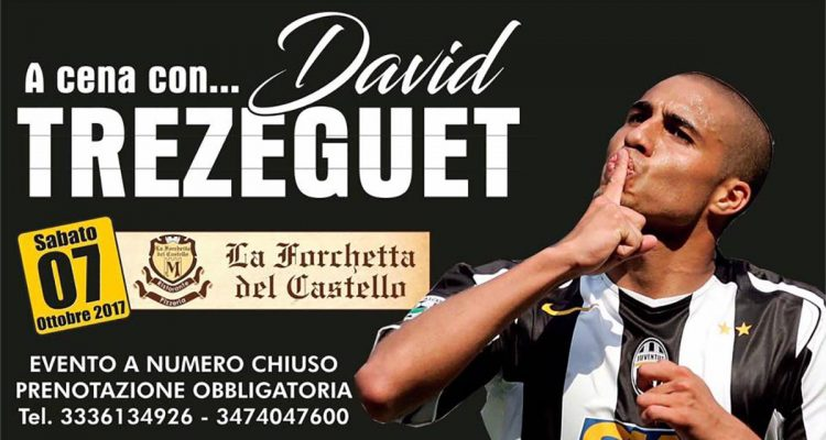 "Santa Lucia del Mela, David Trezeguet ospite del ""Juventus Official Fan Club"""