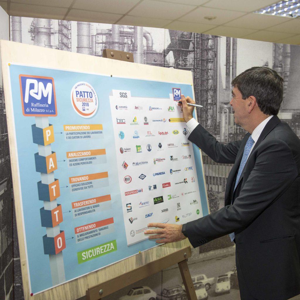Raffineria di Milazzo – Patto per la Sicurezza 2018