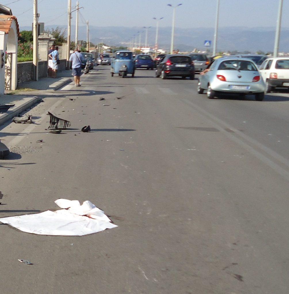 Milazzo, incidente stradale sulla litoranea di Ponente