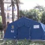 Camera mortuaria in tenda in ospedale