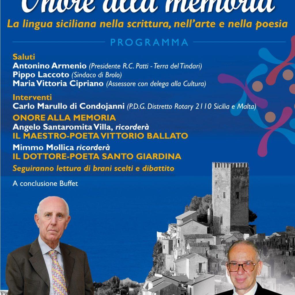Il Rotary di Patti omaggia due grandi poeti