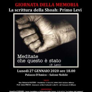 Giornata della memoria, lunedì 27 incontro a palazzo D'Amico