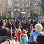 Milazzo, successo del raduno in maschera a villa Nastasi