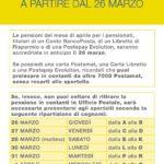POSTE ITALIANE: LE PENSIONI DI APRILE  – IN PAGAMENTO DAL 26 MARZO