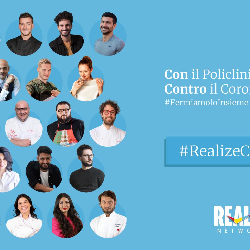 #REALIZECHALLENGE: REALIZE NETWORKS SOSTIENE I PROGETTI DEL POLICLINICO DI MILANO PER L'EMERGENZA COVID-19.  TUTTI I TALENT DELL'AGENZIA INSIEME PER UNA BUONA CAUSA