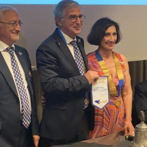 Prestigioso insediamento del Presidente Rotary Club Milazzo Maria Torre con la visita del Governatore Distrettuale Alfio di Costa