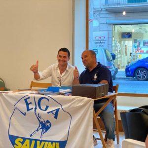Il candidato della Lega, Damiano Maisano inaugura il Comitato elettorale