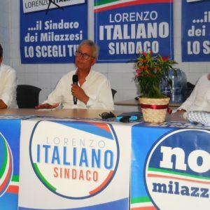 LORENZO ITALIANO PRESENTA LA CANDIDATURA A SINDACO DI MILAZZO