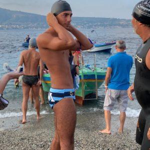Enrico Bambara ha partecipato alla Traversata dello Stretto di Messina