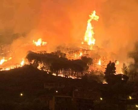 Vasto rogo a Lipari, fiamme alte vicino alle case