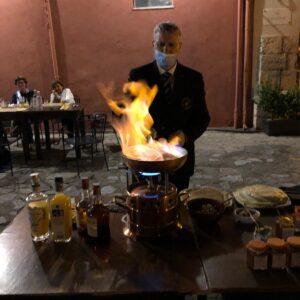 """""""Le Fiamme"""" del Maitre Nino Russo al Caffè antico di Milazzo"""