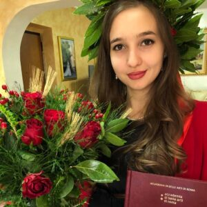 La milazzese Valeria Maisano laureata all'Accademia delle Belle Arti di Roma